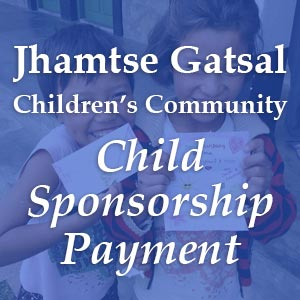 make a Child Sponsorship payment to Jhamtse Gatsal Children's Community