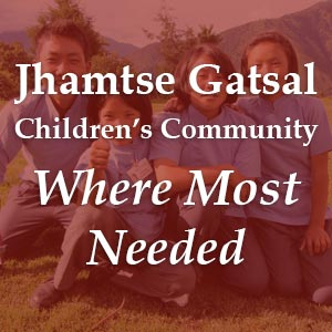 donate to Jhamtse Gatsal Children's Community - Where Most Needed