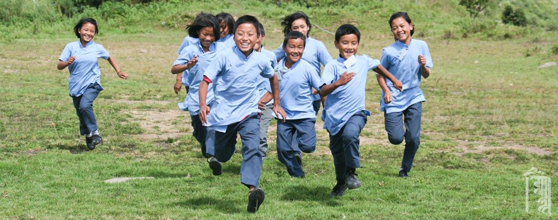 Happy, healthy Jhamtse Gatsal kids.